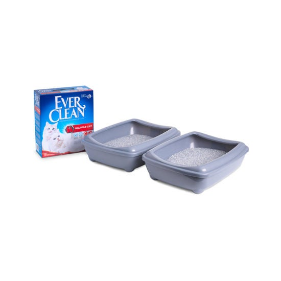 Ever Clean Super Premium Clumping Cat Litter for Multiple Cats Product Image with Litter tray